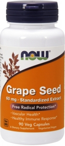 Now Grape Seed 60 mg
