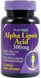 Natrol Alpha Lipoic Acid (альфа-липоевая кислота) 300mg