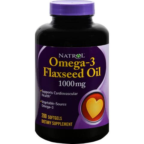 Natrol Omega - 3 Flaxseed Oil 1000 mg