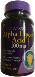 Natrol Alpha Lipoic Acid (альфа-липоевая кислота) 100mg