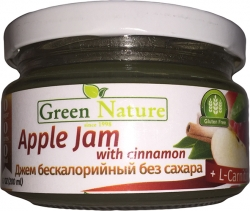 Green Nature Apple Jam with cinnamon + L-carnitine