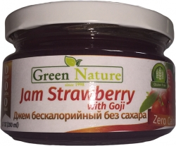 Green Nature Jam Strawberry with Goji