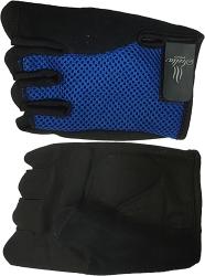 Синие перчатки для фитнесса Scelta