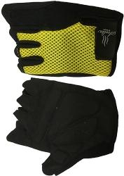 Желтые перчатки для велосипеда Scelta