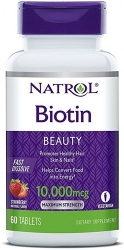 Natrol Biotin 10000 mcg Fast Dissolve