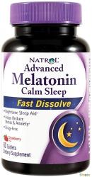 Natrol Melatonin Calm Sleep Fast Dissolve