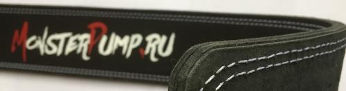 Трехслойный кожаный пояс с пряжкой для тренировок