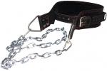 Ремень для отягощений с цепью на пряжке