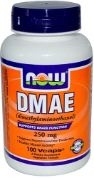 NOW DMAE Dimethylaminoethanol 250 мг