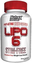 Nutrex Lipo 6 STIM FREE