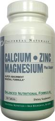 Universal Naturals Calcium Zinc Magnesium plus Copper