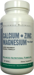 Universal Naturals Calcium Zinc Magnesium plus Copper